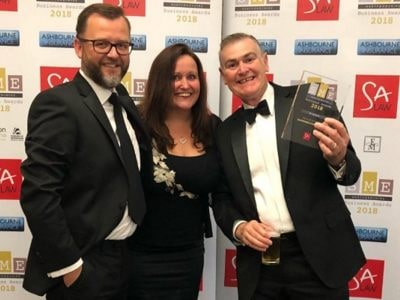 Employer of the Year 2018 by the Hertfordshire SME Awards
